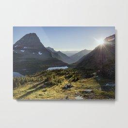 Mountain Sunset in Glacier National Park Metal Print