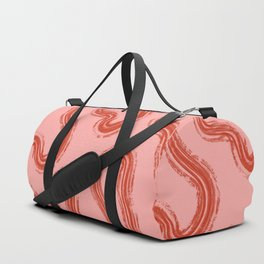 Pink Abstract Duffle Bag
