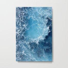 ATLANTIC - OCEAN - BLUE - OCEAN - BLUE - WATER - PHOTOGRAPHY Metal Print