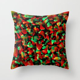 Creative spotted red and colored spots and splashes of paint. Throw Pillow