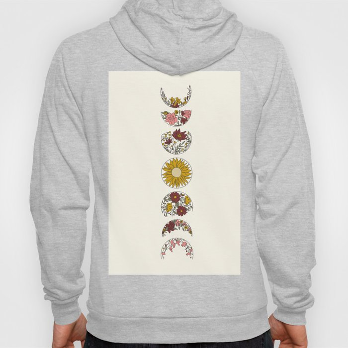 Floral Phases of the Moon Hoodie