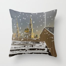 Way to Mosque  Throw Pillow