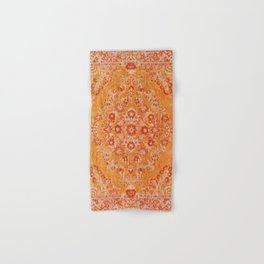 N78 - Orange Antique Oriental Berber Moroccan Style Carpet Design. Hand & Bath Towel