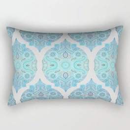 Through Ocean & Sky - turquoise & blue Moroccan pattern Rectangular Pillow