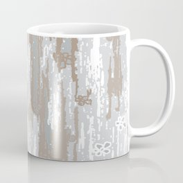 Grey brown Colors Gradient pattern.  light-grey, modern, decor, Society6 Coffee Mug
