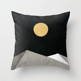 Gold Moon Throw Pillow