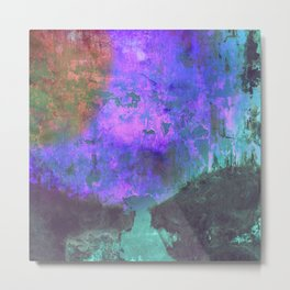 Unrest - Distressed Abstract Metal Print