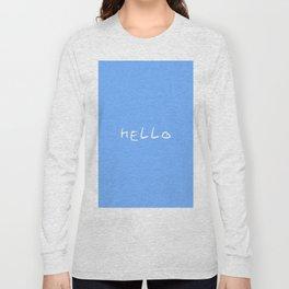 hello 1 - blue Long Sleeve T-shirt