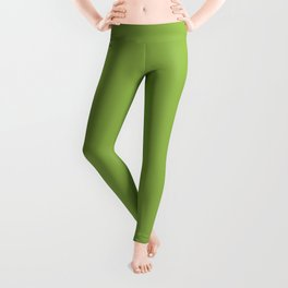 Greenery | Pantone Color of the Year 2017 | Fashion Color Spring : Summer 2017 | Solid Color | Leggings