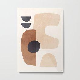 Abstract Minimal Shapes 34 Metal Print