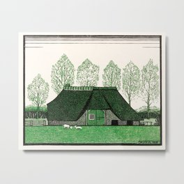 Julie de Graag - Farmhouse with thatched roof Metal Print