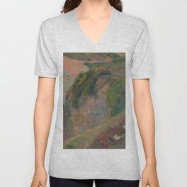 Paul Gauguin - The Flageolet Player on the Cliff (1889) Unisex V-Neck