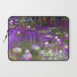 Water Lilies - Claude Monet (proton purple) Laptop Sleeve