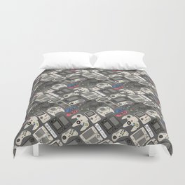 Video Game Controllers in True Colors Duvet Cover