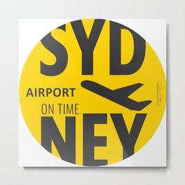 SYD Sydney airport Metal Print