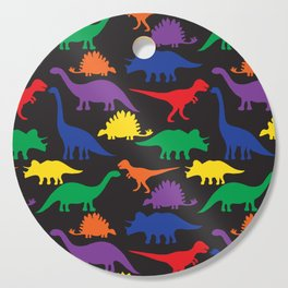 Dinosaurs - Black Cutting Board