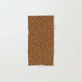 Dark leopard animal print Hand & Bath Towel