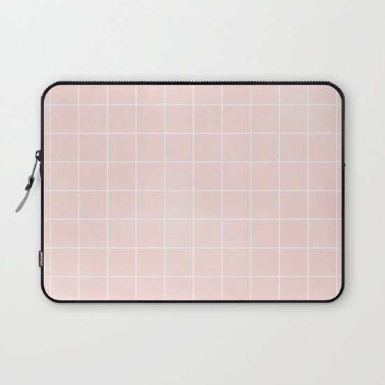 Blush Pink Coral Grid Pattern Line Stripe by beautifulhomes