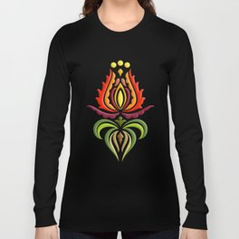 Fancy Mantle on Black Long Sleeve T-shirt