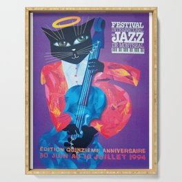 1994 Montreal Jazz Festival Cool Cat Poster No. 1 Gig Advertisement Serving Tray
