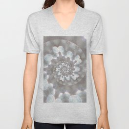 Down the Wormhole - Abstract Photographic Art by Fluid Nature Unisex V-Neck