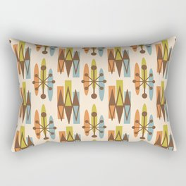 Mid Century Modern Atomic Triangles 334 Rectangular Pillow