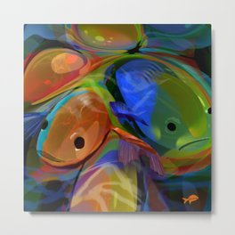 slippery fish Metal Print