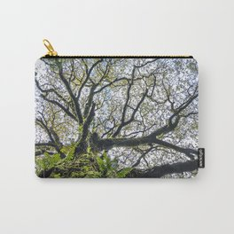 Centenary oak covered with moss and plants Carry-All Pouch