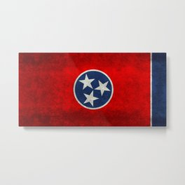 State flag of Tennessee - Vintage retro style Metal Print