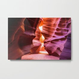 Hourglass - Colorful and Textured Walls of Antelope Canyon in Arizona Metal Print