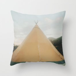 Camping At The Foot Of Kebnekaise Throw Pillow