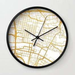GLASGOW SCOTLAND CITY STREET MAP ART Wall Clock