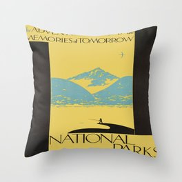Vintage poster - National parks Throw Pillow