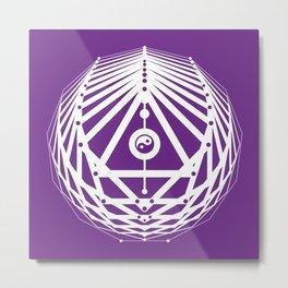 Radiant Abundance (white-purple) Metal Print