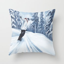 Dropping The Dream Forest Throw Pillow