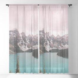 Moraine Lake Banff National Park Sheer Curtain