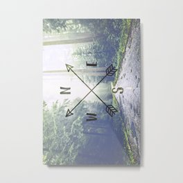 Forest Compass Metal Print