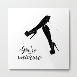 My universe heels Metal Print