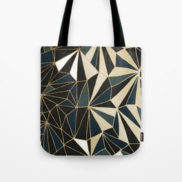 New Art Deco Geometric Pattern - Emerald green and Gold Tote Bag