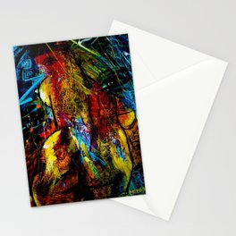 Indigenous Inca Female Princess of the Sun God portrait painting by Ortega Maila Stationery Cards