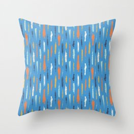 Hand drawn paint strokes Throw Pillow