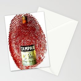 Vintage Cordial Campari Aperitif Thumb Print Advertising Poster Stationery Cards