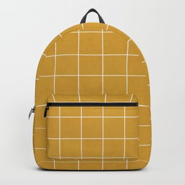 Small Grid Pattern - Mustard Yellow Backpack