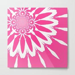 The Modern Flower pink Metal Print