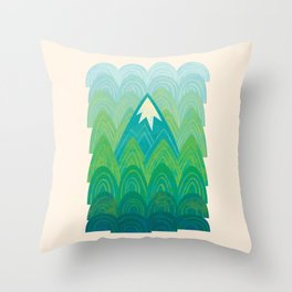Towering Mountain Throw Pillow