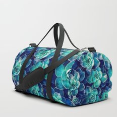 Plants of Blue And Green Duffle Bag