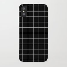 Grid Simple Line Black Minimalistic iPhone X Slim Case