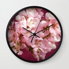 Peachblossom Wall Clock