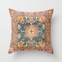 Amritsar Punjab North Indian Rug Print Throw Pillow