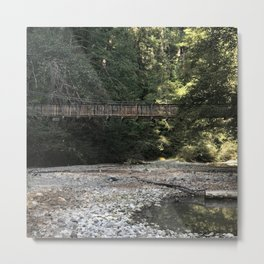 Swinging Bridge Metal Print